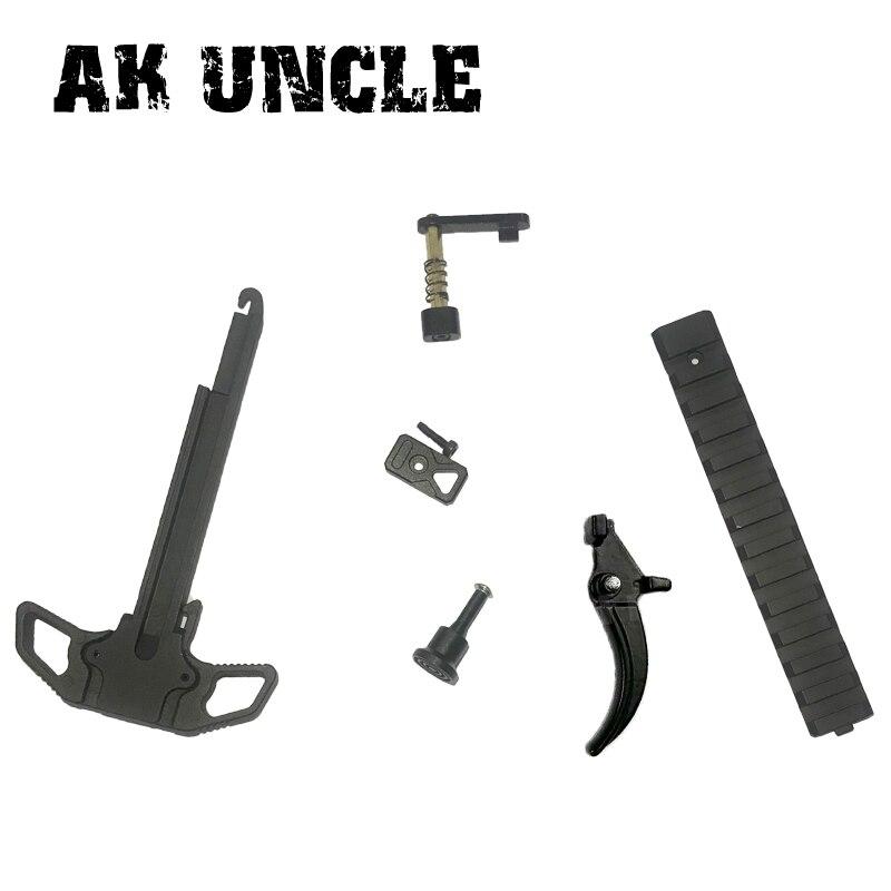 Betrouwbaar Ak Unclegel Bal Pistool Speciale Hoge Kwaliteit Klink Trigger Metalen Precisie Onderdelen Speelgoed Voor Jinming 8 M4a1 Gen 8 Speelgoed Pistool Accessoires Druppel Droog