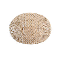 Handmade Woven Straw Placemats Dinning Table Mat Pot Holder 38x28cm Cup Coaster Kitchen Accessories