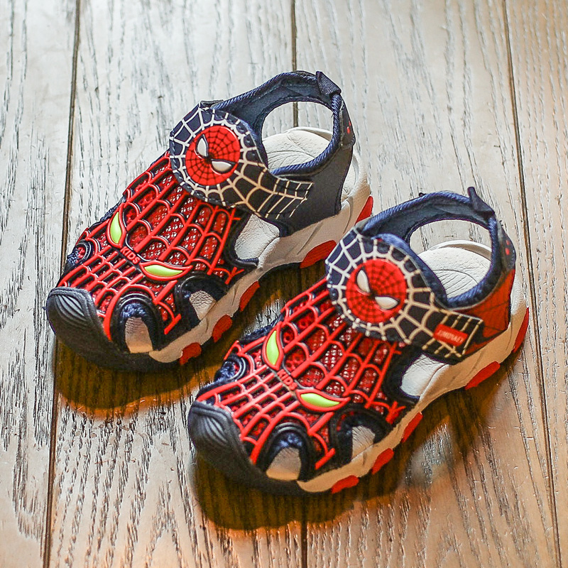 Children Shoes Popular Boys Sandals 2018 Brand Design Beach Non-slip Baby Boys Shoes Soft Breathable Spiderman Summer Sandals