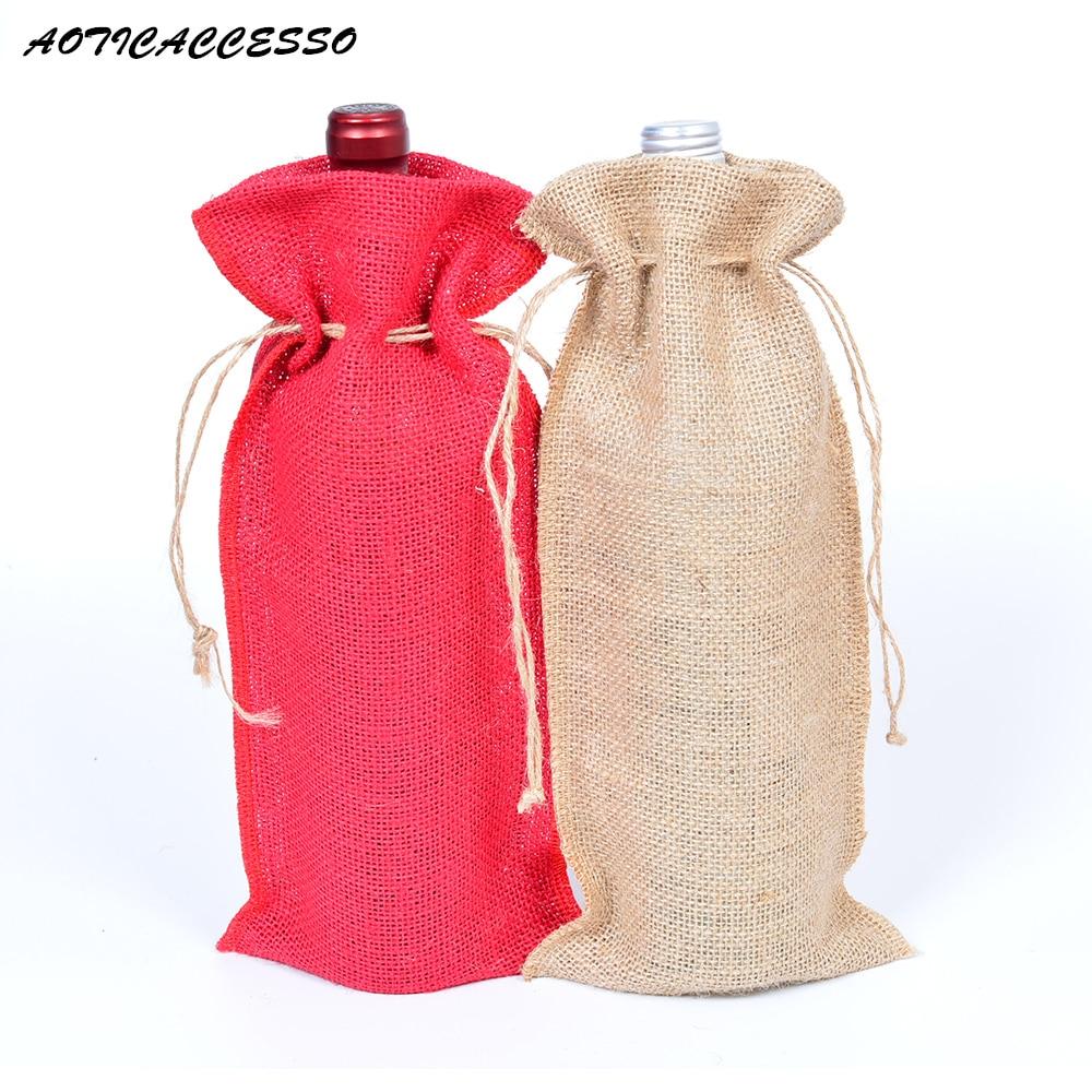 Natural Jute Drawstring Bag 5.9