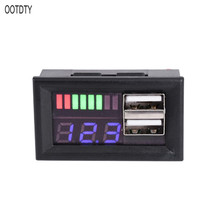 Blue LED Digital Display Voltmeter Mini Voltage Meter Volt Tester Panel For DC 12V Cars Motorcycles Vehicles USB 5V2A output new mini 0 36 inch dc 0 100v 3 bits digital red led display panel voltage meter voltmeter tester 39%off
