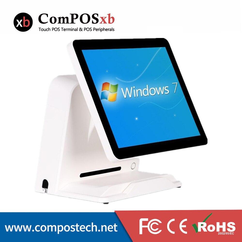 Preço mais baixo Caixa Registo 15 PC Pos Tudo Em Um Sistema Pos Para Loja de Varejo Preto Branco
