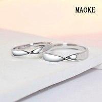 מוביוס S925 טבעת כסף מבצעים פתיחת החתונה טבעת זוג תכשיטי אופנה לנשים מתנות אופנה