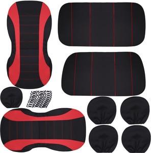 Image 4 - 9pcs universal car seat covers auto protect covers automotive seat covers fo kalina grantar  lada priora renault logan