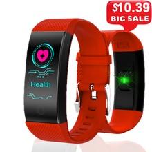 Smart Bracelet Smartband Heart Rate Sleep Monitor Sports Passometer Fitness Tracker Bluetooth Smartwatch Message Reminder цена