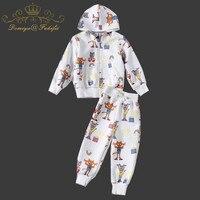 Children Clothing 2018 Autumn Winter Brand Baby Girls Clothes Coats Pants 2pcs Kids Tracksuit Sport Suit