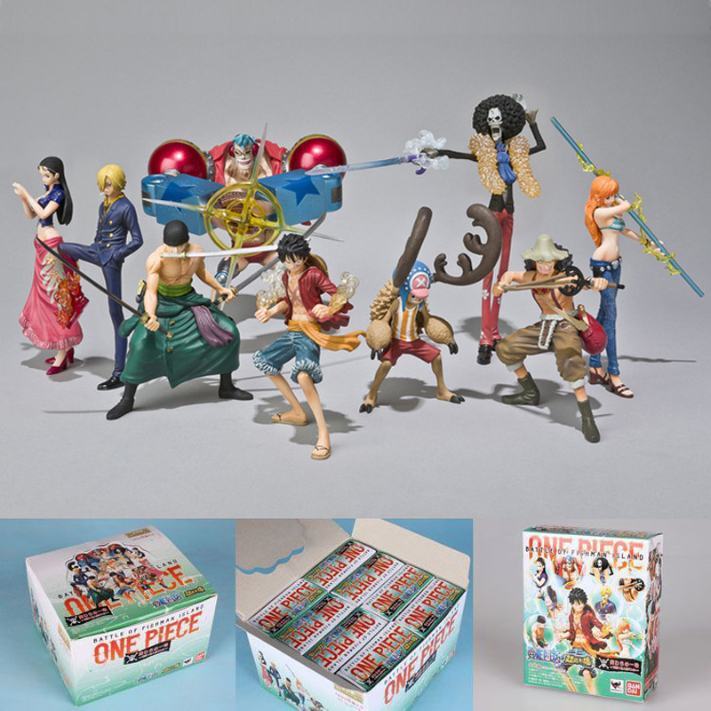 PVC 9 Styles Battle of Fishman Island ONE PIECE Action Figure Luffy Nami Robin Franky Brook Anime Model Toy Collectibles Gift