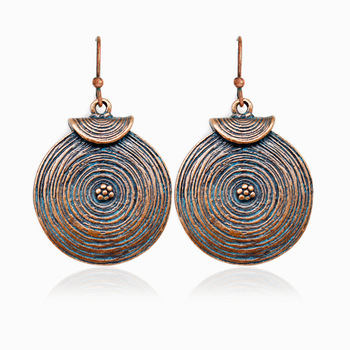 Boucle d'oreille ethnique bronze