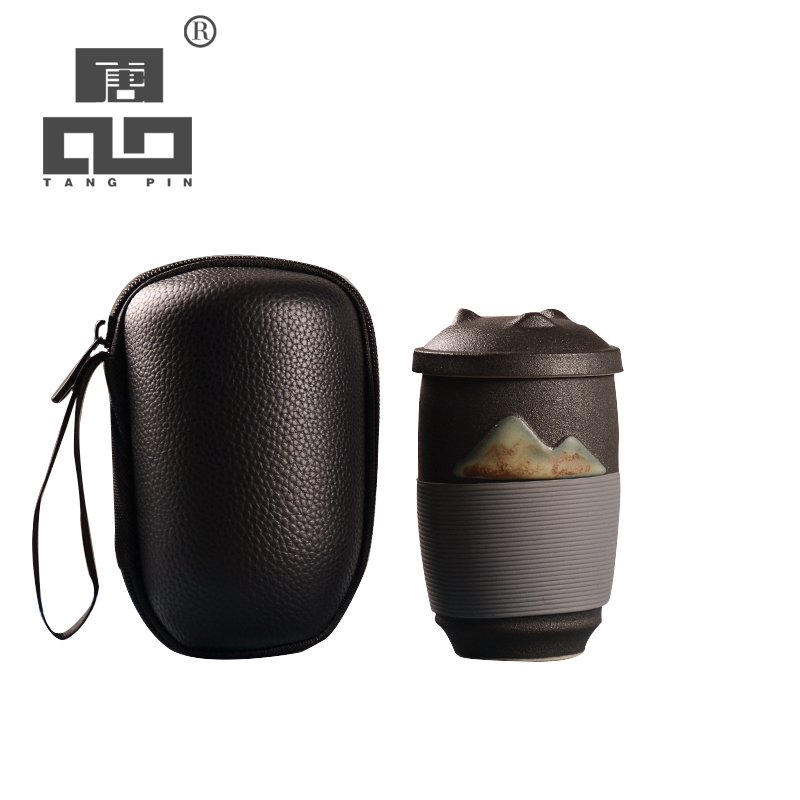 TANGPIN chinois en céramique thé tasses en céramique tasse de thé voyage thé tasses avec filtres 300 ml
