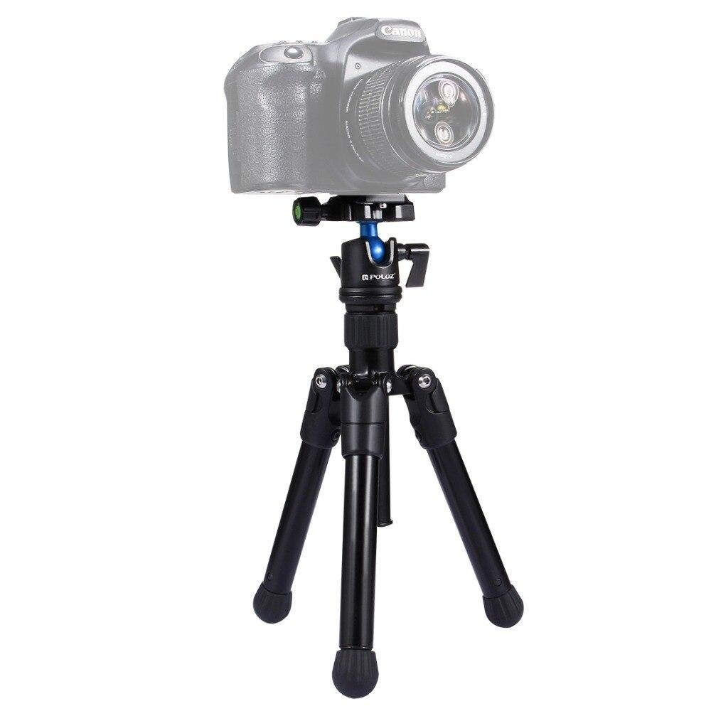 PULUZ Mini Poche Trépied Manfrotto Caméra titulaire trépied W/360 Degrés Rotule pour Canon Nikon Sony DSLR Caméra caméscope