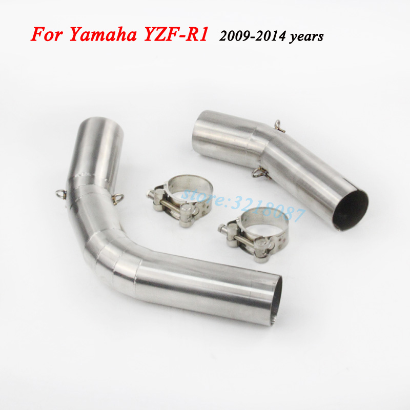 Motorcycle Exhaust Pipe Escape Moto Muffler Middle Link Pipe For Yamaha R1 YZF 2004-06 07-08 2009-2014