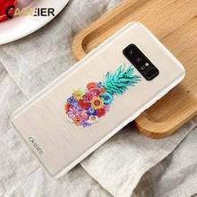 CASEIER Summer Fruit Phone Case For Samsung S6 S7 edge Colorful Emboss Patterned Soft TPU Cases Galaxy S8 Capinha
