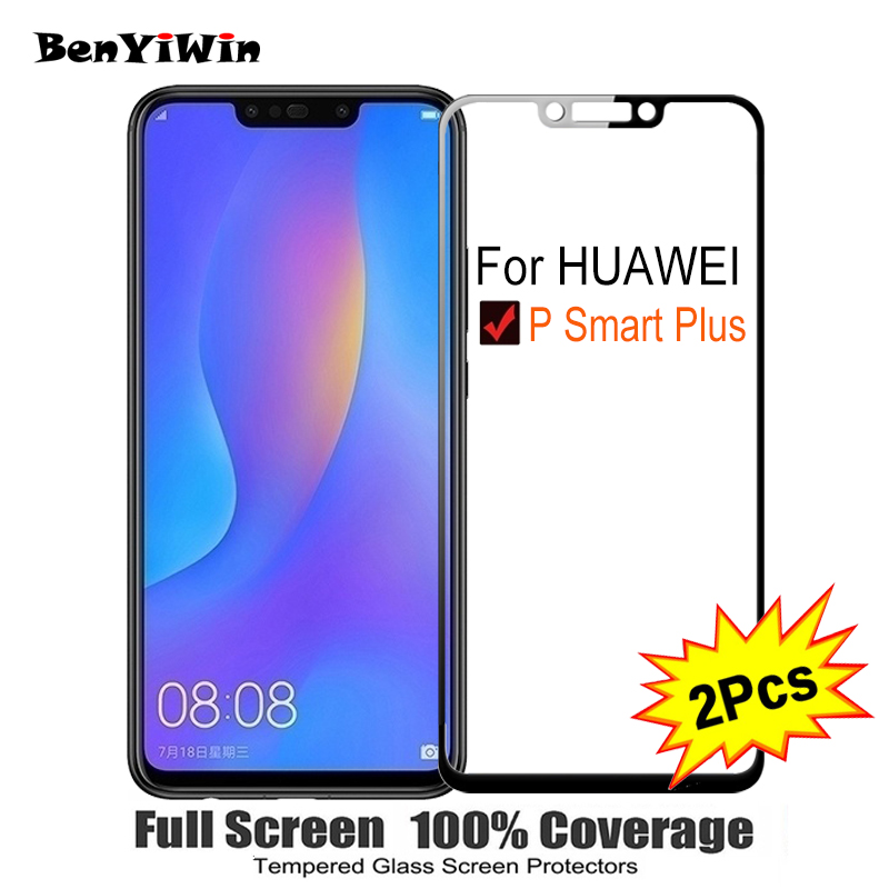 2PCS Full Cover Screen Protector Tempered Glass For Huawei P Smart Plus 6.30