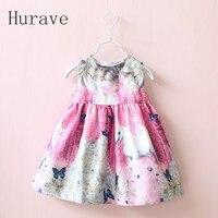 Girl Dress New Sleeveless Dobby Children Clothing Cartoon Horse Dresses Kids Dress Girls Clothes Infant Dress