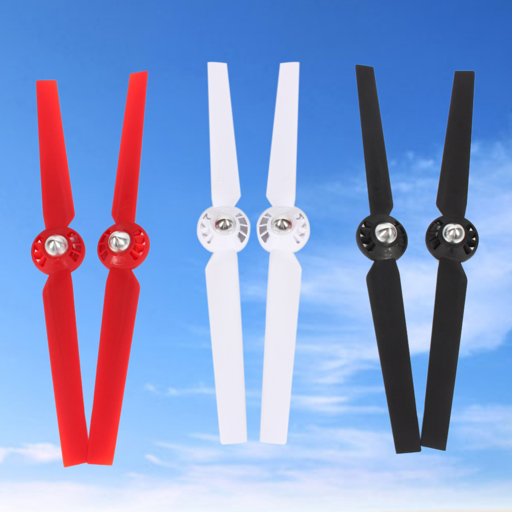 New 4PCS Nylon Propellers Set CW&CCW Propeller for YUNEEC Q500 Q500M Typhoon Series RC Quadcopter Red Black White 4pcs lot propeller blades real carbon fiber propeller prop 13 1303 cw ccw for yuneec q500 typhoon parts