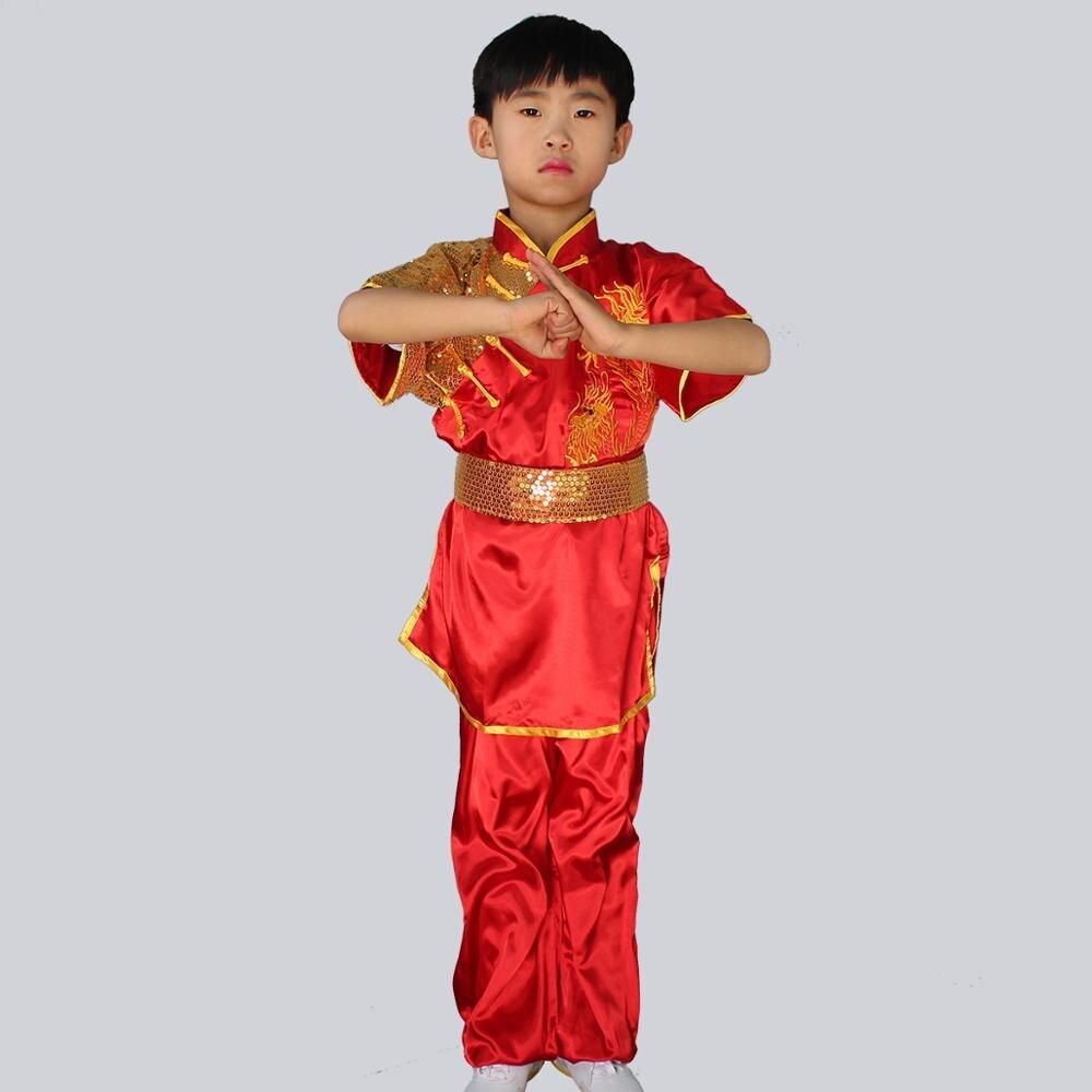 Wushu Stretch Silk Dragon Uniform 3