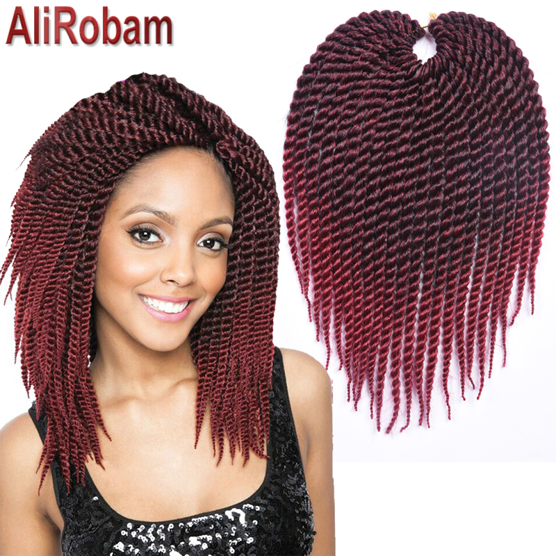 AliRobam 22Roots 12 16 20 Inch Crochet Hair Ombre Kanekalon Braiding Hair Crochet Braids ...