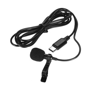 Image 4 - Mini Lapel Lavalier Clip on Condenser Microphone Mic with Type C Plug Wire System microphone for Android Smartphone