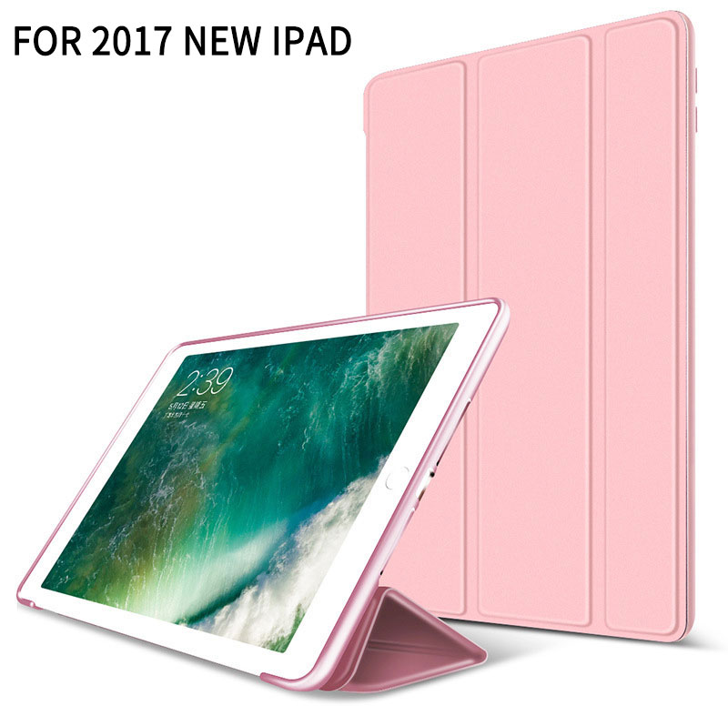pink Super thin smart case with stand for iPad 9.7 2017, 2018