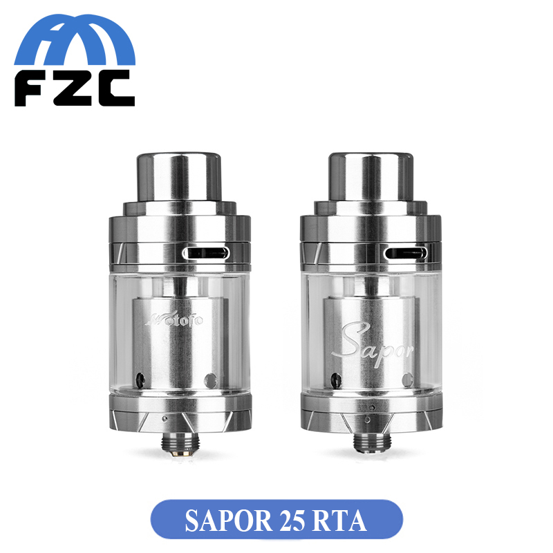 Original Wotofo Sapor RTA 25 Tank Top filling System Big Vapor Rebuildable Tank Genuine Electronic Cigarette