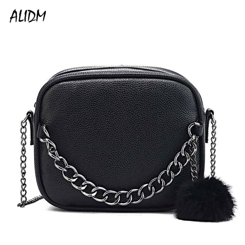 Fashion Handbags Women Shoulder Bag Women Messenger Bags High Quality PU Shoulder chain Crossbody Bag With Plush Ball Toy Bolsa цена
