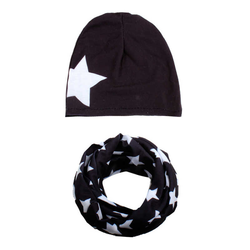 แฟชั่นใหม่ฤดูใบไม้ร่วงฤดูหนาวเด็กทารกหมวกหมวกผ้าพันคอปกห้าแฉกSBoysสาวB Eaniesเด็กหมวกทารกหมวกชุดเด็กหมวก