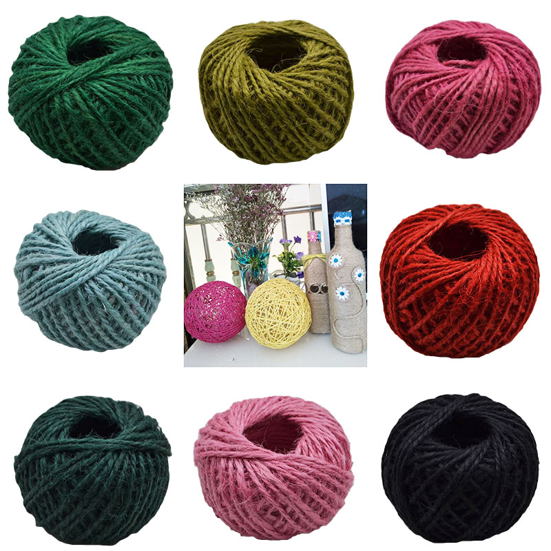 30 Meters 2mm Natural Hemp Rope Burlap Hessian Jute Twine Cord For Diy Gift Wrapping Wedding Party Decoration Scrapbook Craft Buy One Get One Free Home & Garden Apparel Sewing & Fabric
