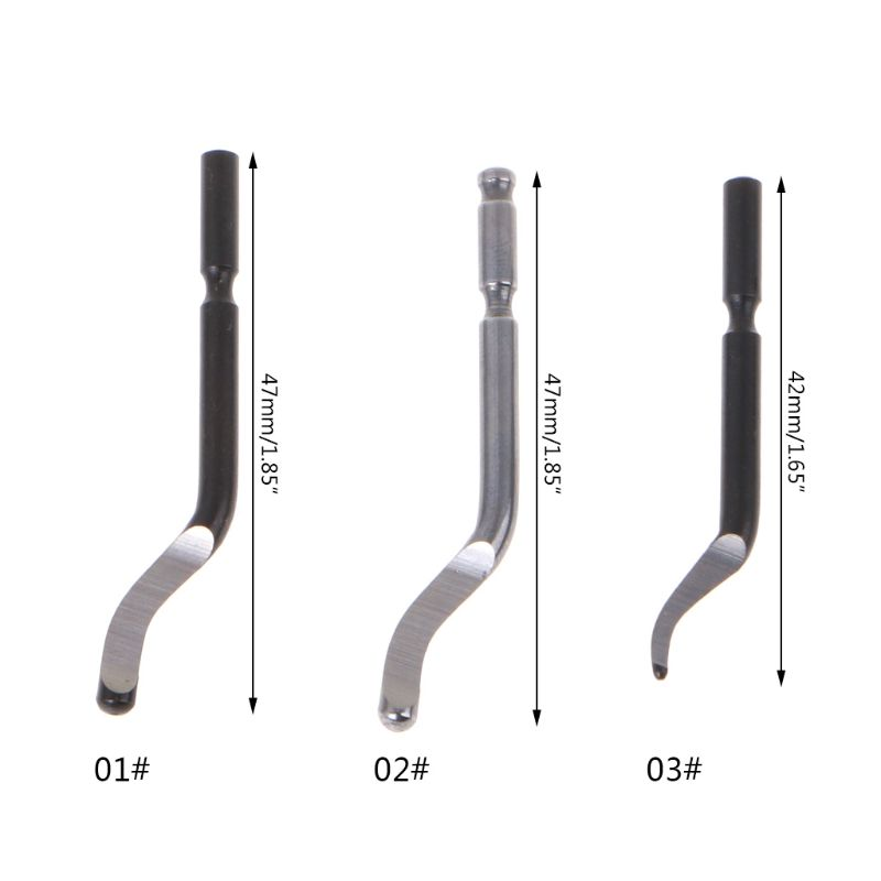 10PCS Rapid Steel Rotary Blade BS1010/BS1018/BK3010 Blade Aluminum Corner Crack Deburring Trimming Processing Tool