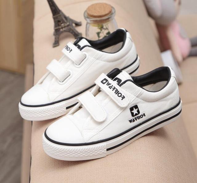 2016 nueva Marca de moda lienzo zapatos de bebé Primavera/Otoño muchachos de las muchachas zapatos casuales de alta calidad zapatillas de deporte del bebé