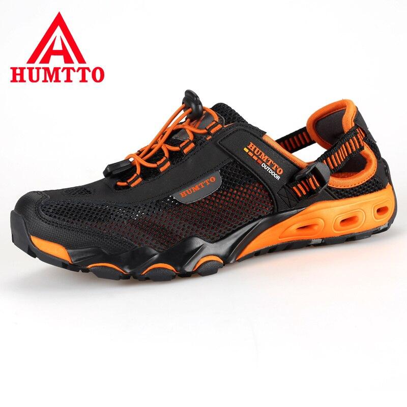 Nova chegada caminhadas ao ar livre sapatos de trekking homens sapatilhas mulher scarpe uomo randonnee mulheres vadeando upstream malha respirável