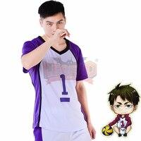 volleyball jersey Haikyuu!! costume Shiratorizawa Academy Wakatoshi Ushijima Cosplay Costume Suit All Size