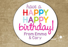 Personalized Gift Stickers,Happy Birthday Label