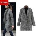 Sobretudo casaco feminino invierno mujeres escudo abrigos mujer bayan kaban otoño 2016 manteau femme capa del cabo de lana poncho más tamaño
