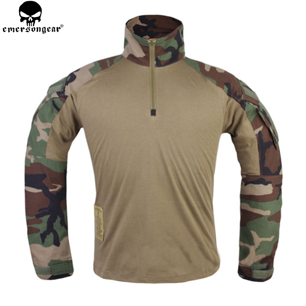EMERSONGEAR Tactical Shirt Hunting clothes G3 Military BDU Airsoft Emerson Paintball Uniform Woodland EM9278 airsoft adults cs field game skeleton warrior skull paintball mask