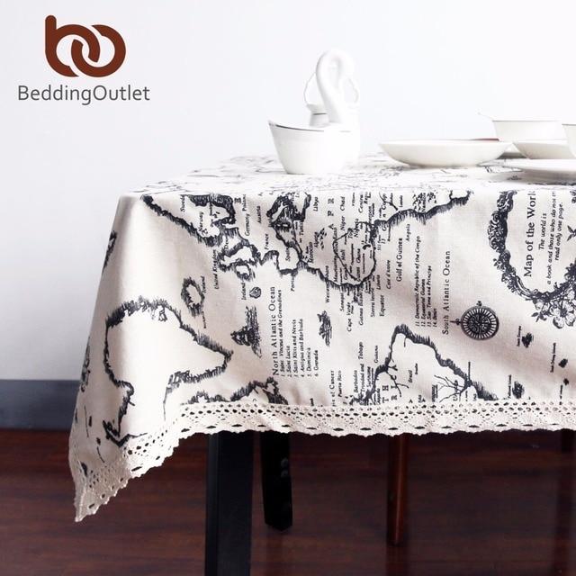 BeddingOutlet World Map Tablecloth European Functional Table Cloth For  Picnic Party Linen Cotton Tablecloths Rectangular 9