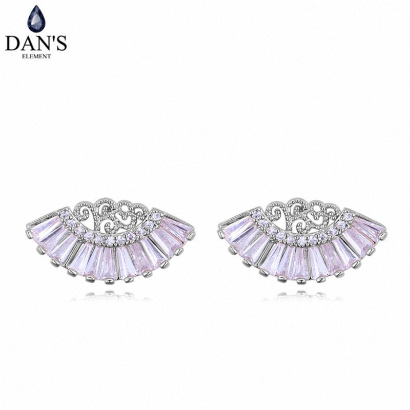 DANS 3 Colors Real Austrian crystals Stud earrings for women Earrings s New Sale Hot Round 128284