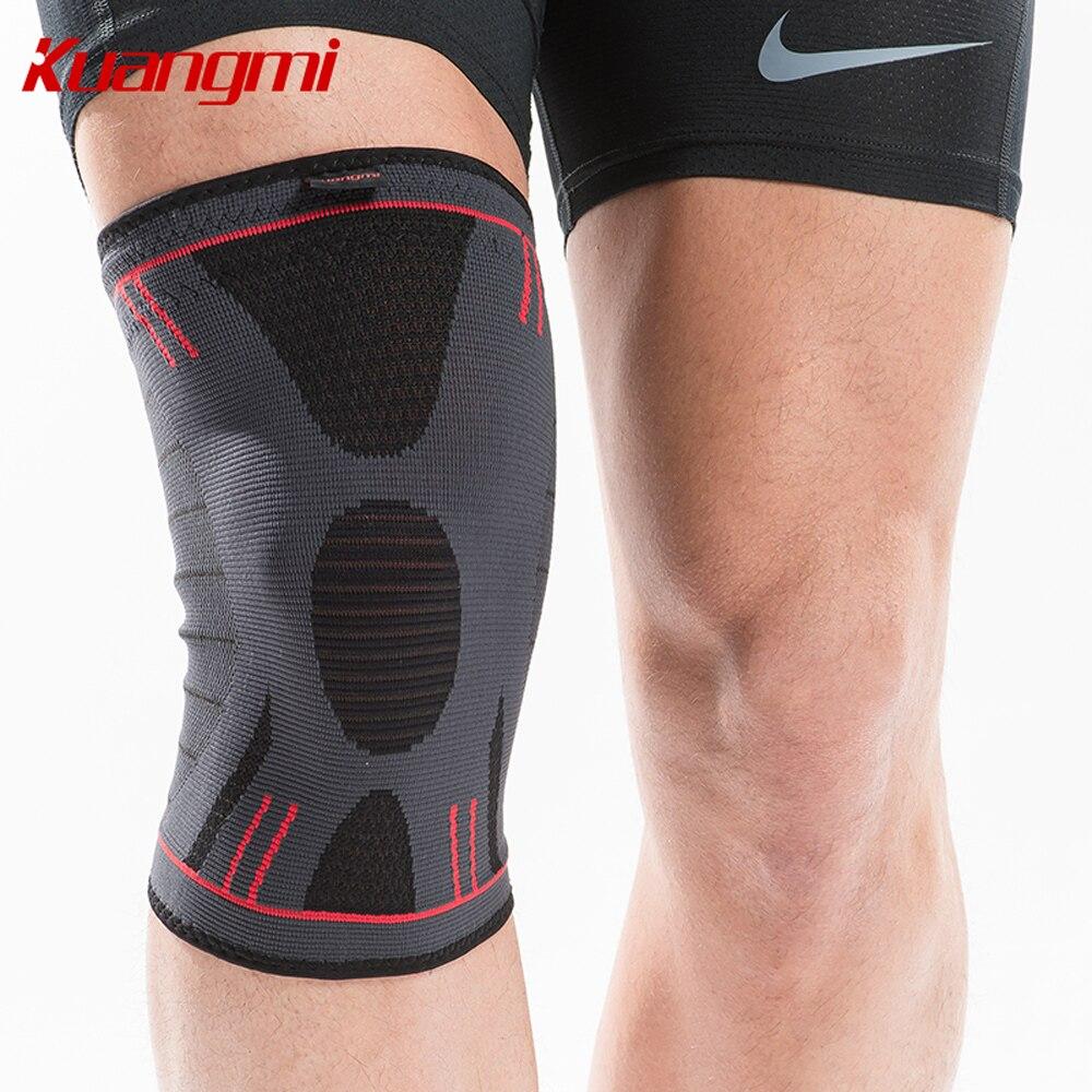 Kuangmi 1 pc knee pads knee support Sports Basketball Volleyball Kneepads Running Knee Brace Patella Protector Elastic Sleeve