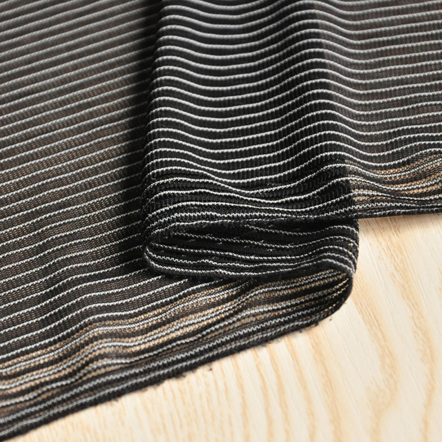 Free Ship Black With White Stripe Fabric Price For 12 Meter 160cm