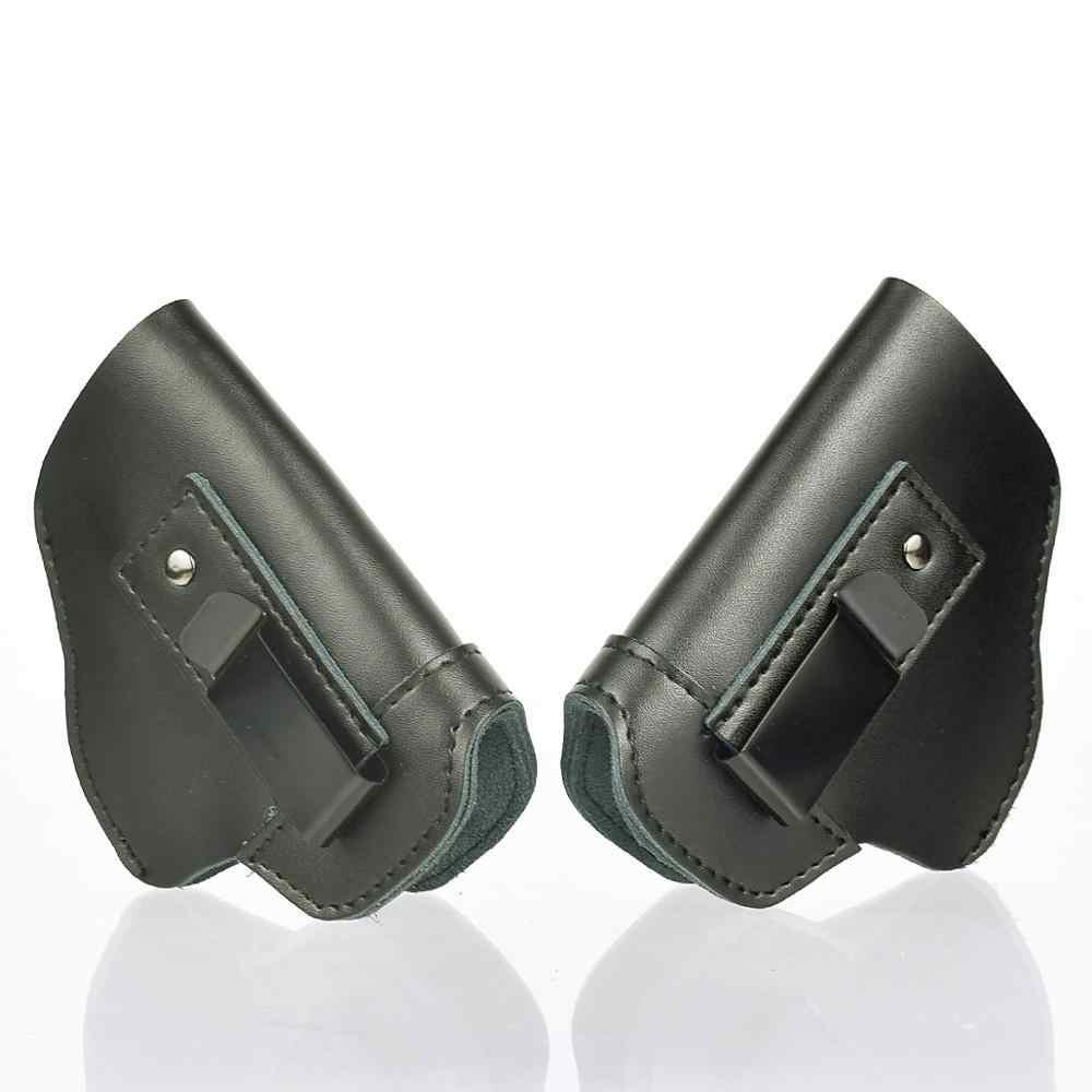 حافظة مسدس للحمل مخفية IWB من الجلد لليد اليسرى لـ Glock 17 19 22 23 43 Sig Sauer P226 Ruger Beretta 92 M92 s & w مسدسات