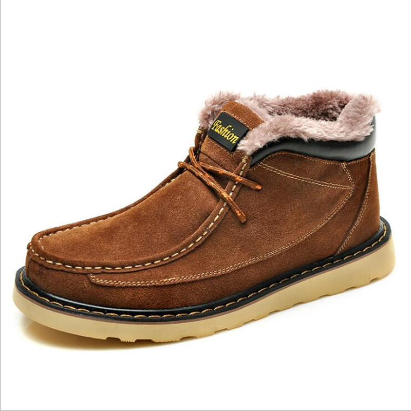 Men Boots Plush Snow Cotton Shoes Autumn Winter Style Brand Fashion Trend Flock Short Ankle Martin Boot Men Shoes Warm Casual new high quality pu leather winter boots men fashion warm cotton brand ankle boots shoes men for spring autumn winter shoes