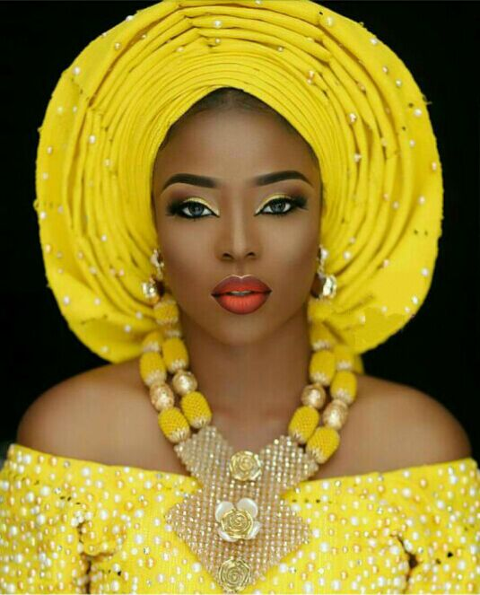 Nigerian Wedding Gifts: Latest African Wedding Nigerian Beads Jewelry Sets Yellow
