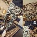 М-4XL 5XL 2016 Мужчины Армии Брюки Мода Camoflage Падение Промежность Брюки Плюс Размер Военные Брюки-Карго PP22