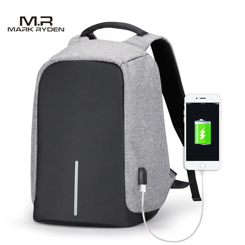 Для мужчин Бизнес Рюкзаки зарядка через USB Дизайн школьный рюкзак для подростков рюкзак для ноутбука Anti-Theft Сумки для поездки Перевозка груза падения