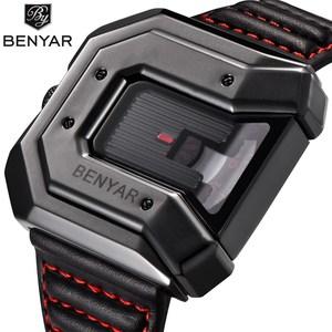 2018 New Design BENYAR Luxury Brand Watch Reloj Hombre Men Waterproof Leather Quartz Clock Male Sports Watches Relogio Masculino