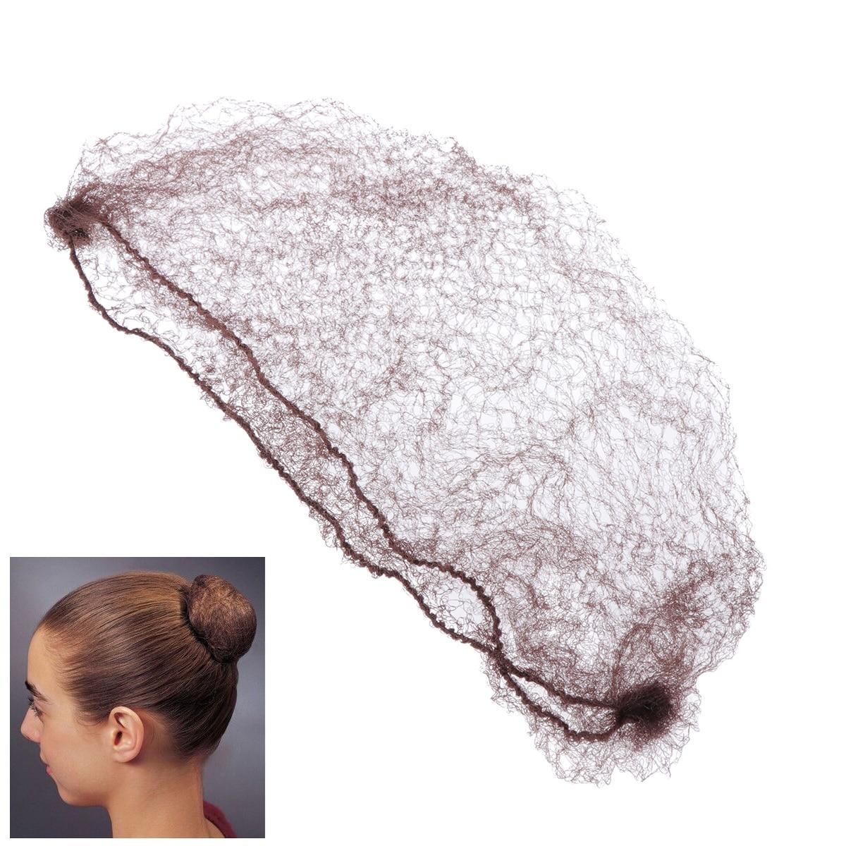 50pcs Hair Nets Invisible Elastic Edge Mesh Hairnet Ballet Bun Hair Nets Mesh Dance Skating Snoods Hair Net Bun Cover