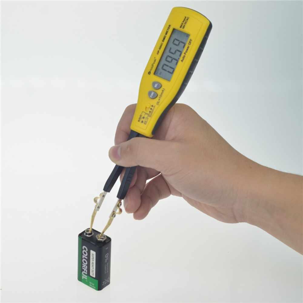 Holdpeak HP-990C Digital SMD Tester Kapasitansi Meter Perlawanan Meter Dioda/Uji Baterai dengan Membawa Kotak Daya Baterai Tester