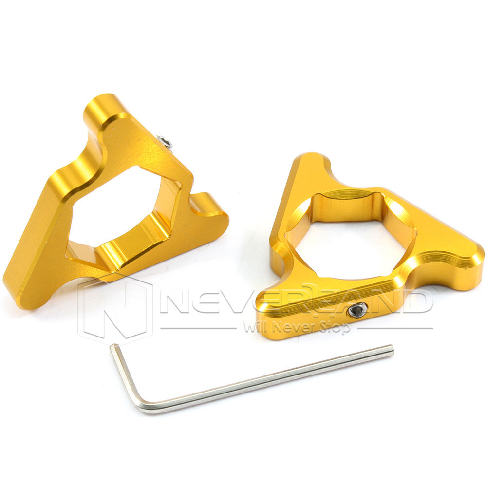 2pcs 22mm Gold Aluminum Fork Preload Adjusters Screw Cap For ZX636R Z1000 CBR 600 929 954 1000 RR Free Shipping free shipping for bmw s1000rr motorcycle accessories 17mm fork preload adjusters 2pcs gold