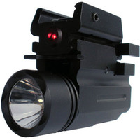 Red Laser Sight Glock Flashlight With LED Technology Tactical Rifle Lights Combo For Pistol Guns Glock