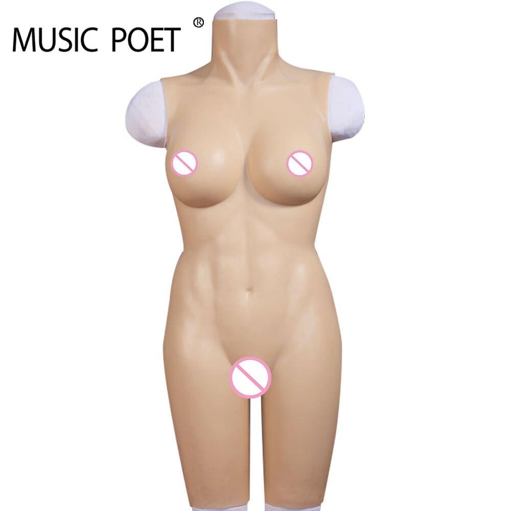 MUSICA POETA Forme Del Seno Del Silicone Artificiale vagina crossdresser per transgender trans falso della vagina della signora tette figa