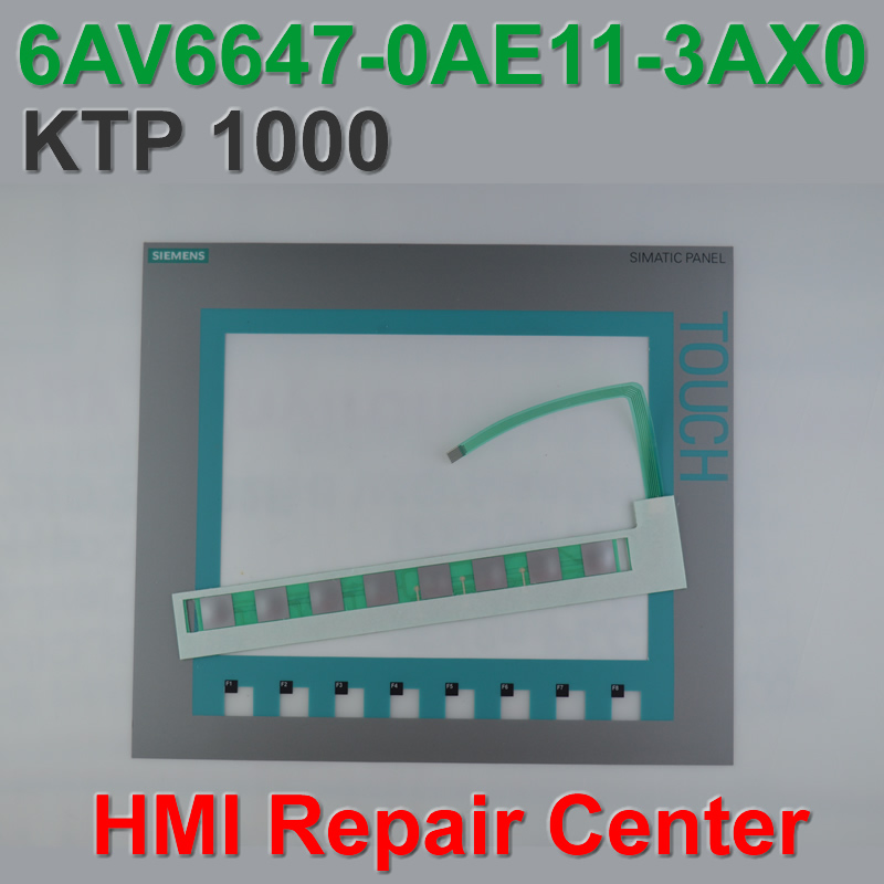 6AV6647 0AF11 3AX0 KTP1000 Membrane Keypad Touch Glass for SIMATIC HMI Panel repair do it yourself